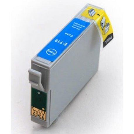 Epson T0712 Jet d'Encre Cyan Compatible