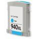 HP C4907AE / 940 XXL Cartouche d'encre Cyan Compatible
